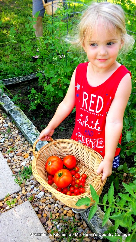 Passing On The Summer Garden Harvest at Miz Helen's Country Cottage