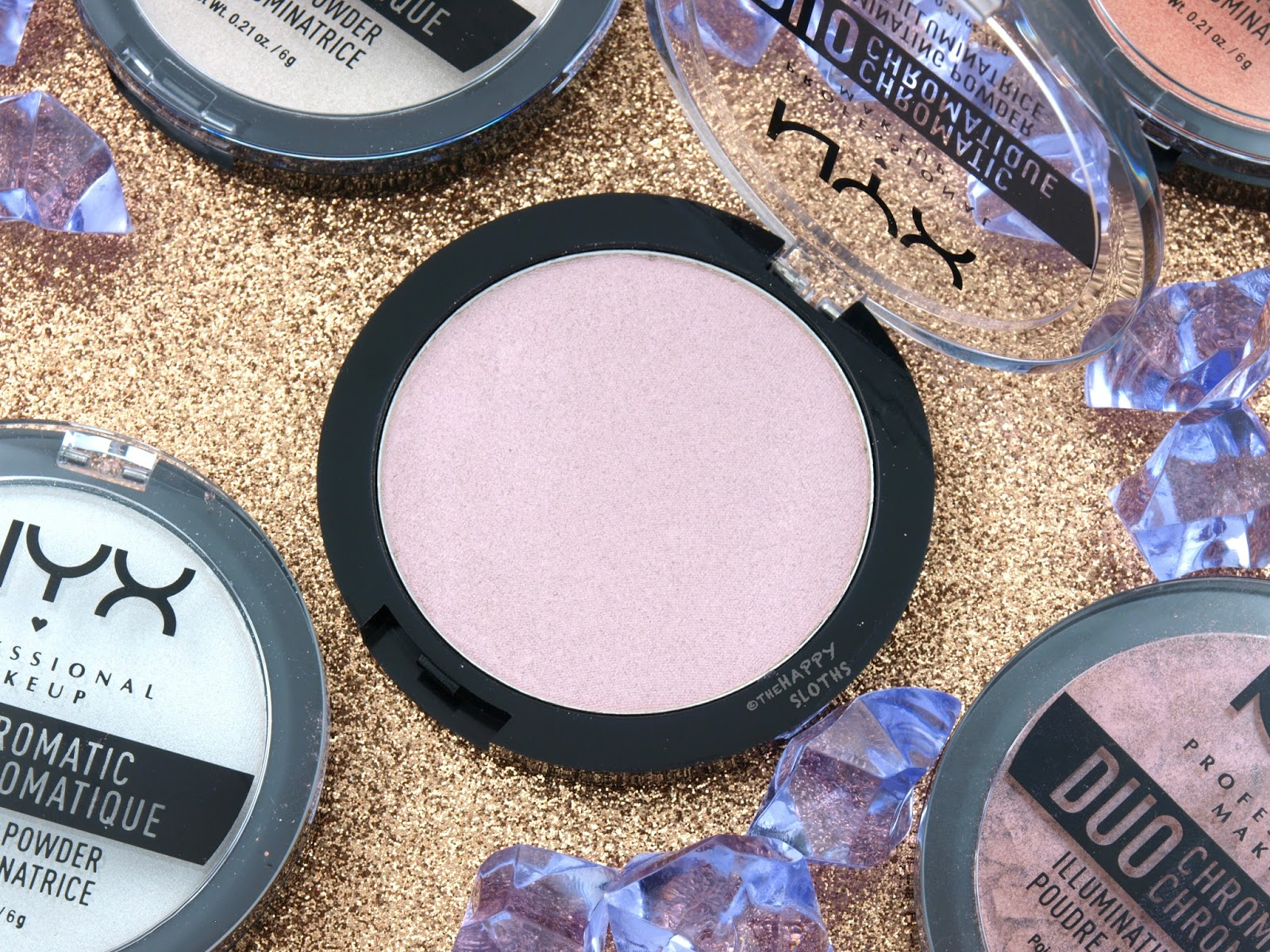 "NYX Duo Chromatic Illuminating Powder in ""04 Snow Rose"": Review and Swatches"