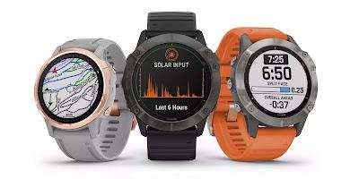 Garmin lança smartwatch com carregamento solar incorporado