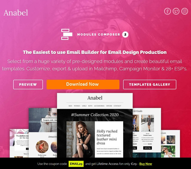 Responsive Email for Fashion & Accessories with Online Builder