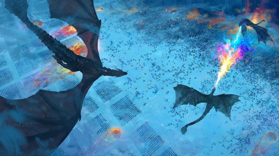 Game Of Thrones Dragon Battle Season 8 4k Wallpaper 88