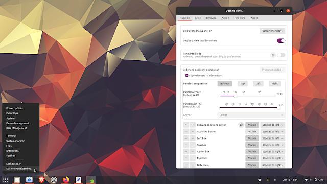 Dash to Panel GNOME 40 and Settings