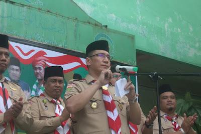 Kakankemenag Tanjungbalai Buka Kegiatan Perkemahan Memperingati Hari Santri Nasional