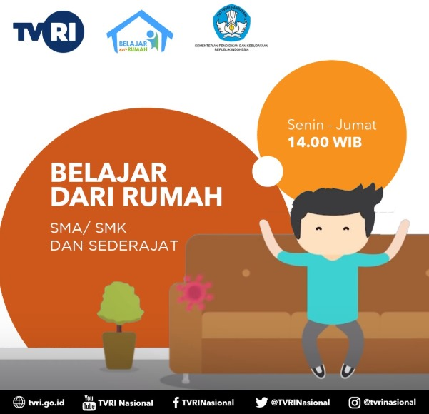 Kumpulan Poster Program Belajar dari Rumah di TVRI