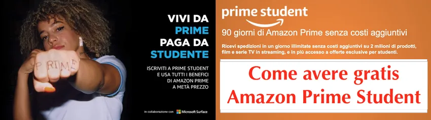 come avere amazon prime gratis per studenti in italia
