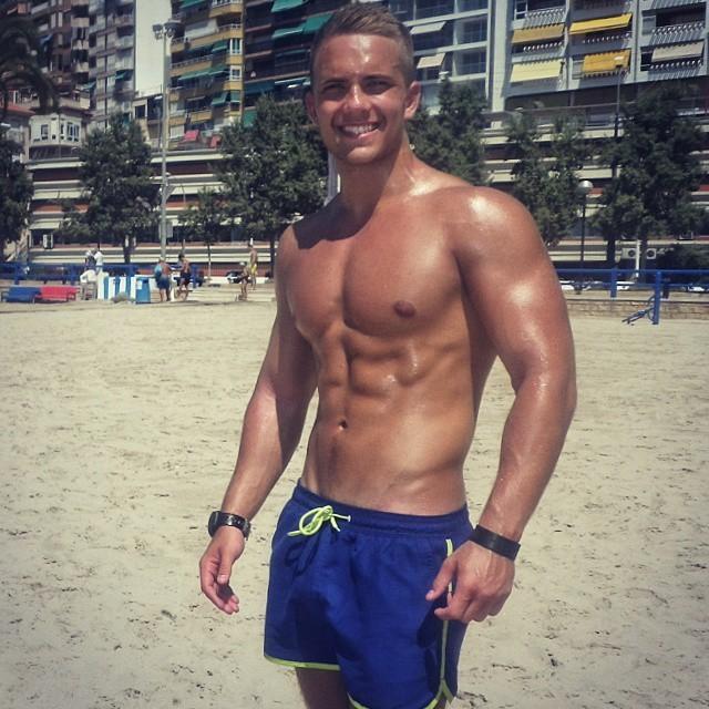 sweaty-hot-muscle-guys-josh-coburn-beach