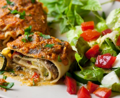 Easy ratatouille lasagna
