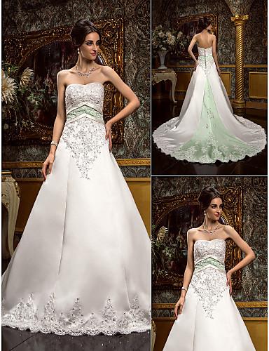 vestidos de novia con color elegantes