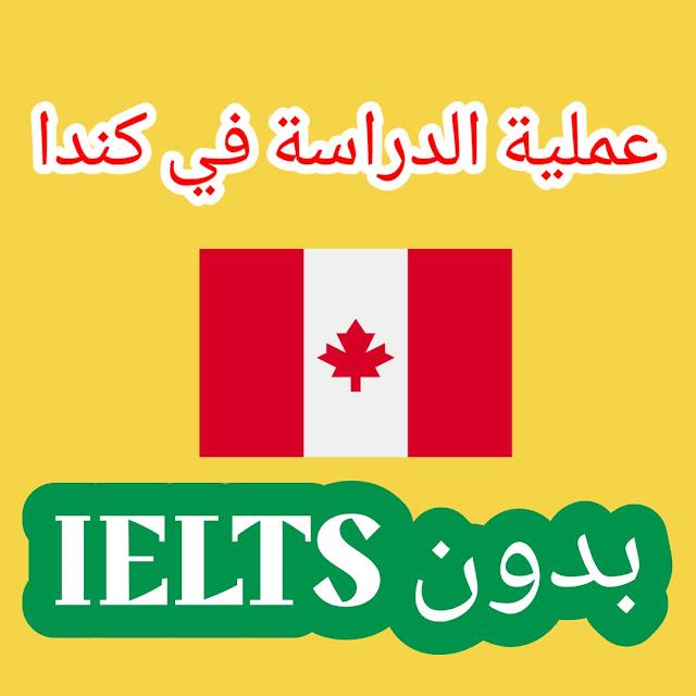 عملية الدراسة في كندا بدون IELTS