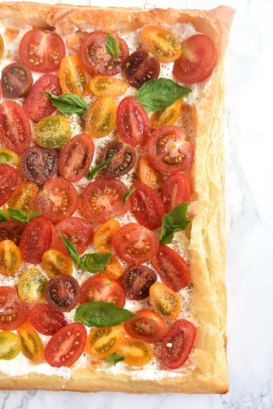 tomato tart dish