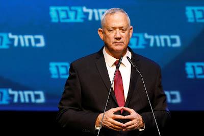 Partidos árabes decidem apoiar Benny Gantz ao cargo de primeiro-ministro de Israel