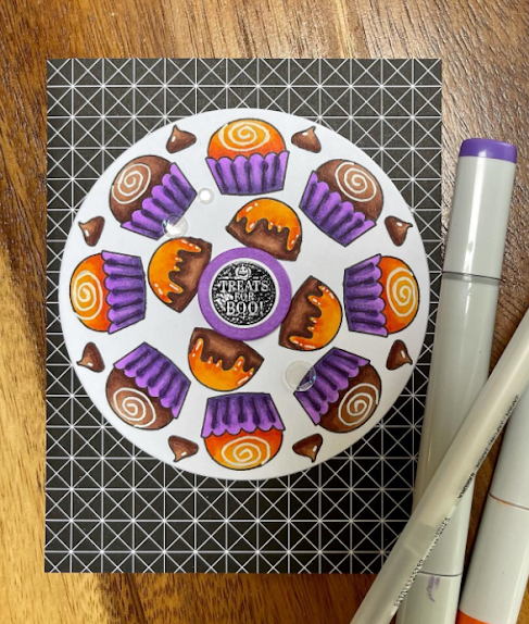 Treats for boo by Karen features Love & Chocolate by Newton's Nook Designs; #inkypaws, #newtonsnook, #cardmaking, #chocolatecards, #halloweencards