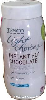 Tesco light choices hot chocolate