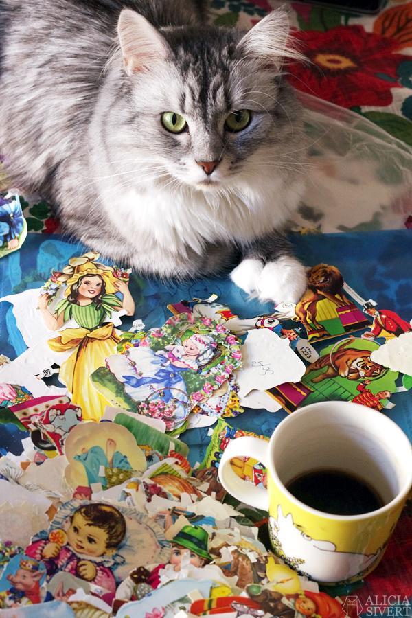 Katten Tofslan och bokmärkena, foto av Alicia Sivertsson, 2016.