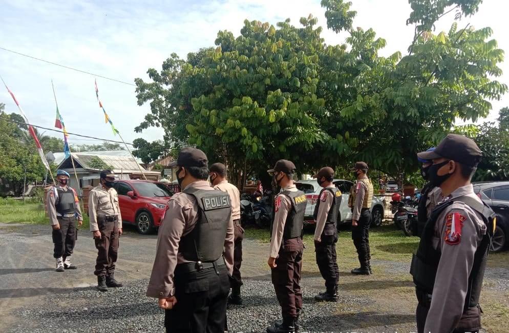 Perwira Pengawas Pimpin Apel Kesiapan di Kantor KPU