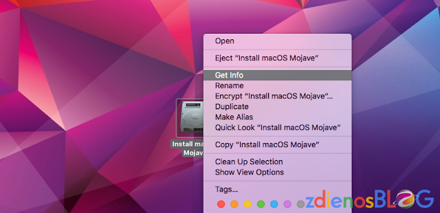 get info - Membuat Installer USB Mac OS 10.14 Mojave