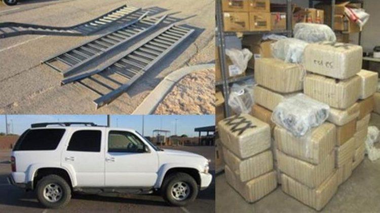 Sicarios utilizan rampas de metal para cruzar muro fronterizo y transportar droga