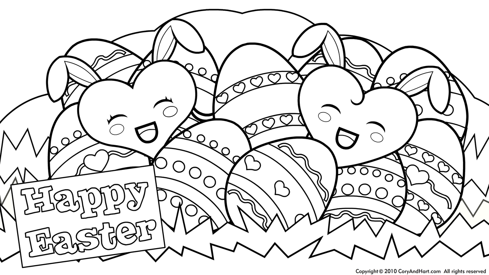 cute+easter+coloring+pages+10 (1600×900) | malvorlage