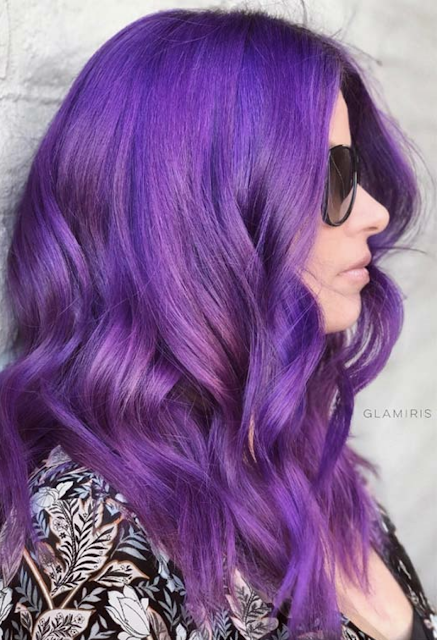 shades of purple hair dye chart