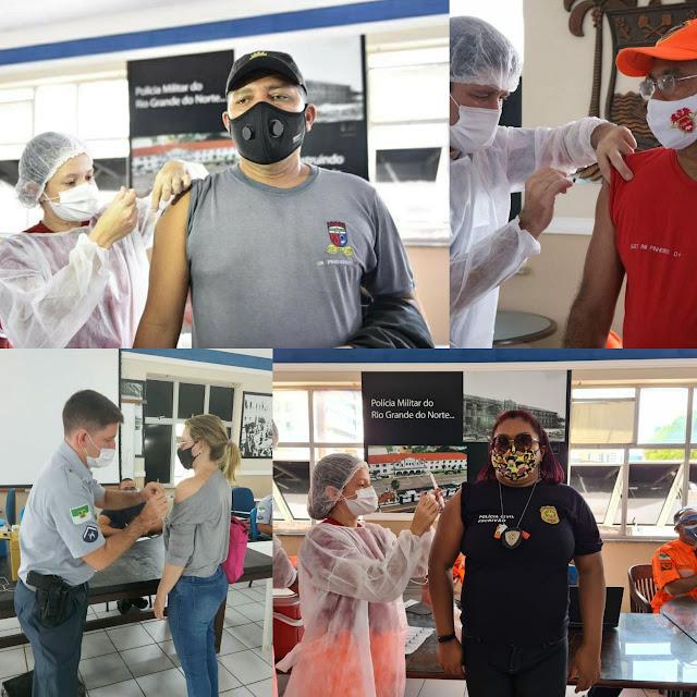 Forças de segurança pública do RN recebem quinta remessa de vacinas contra a Covid-19