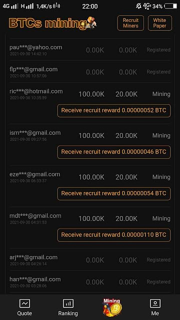 BTCs Mining App and BTC Free Give Away