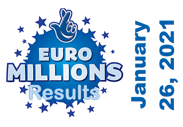 EuroMillions Results for Tuesday, January 26, 2021