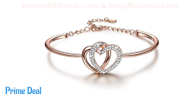 70%OFF J.NINA ✦Guardian of Love✦ Mother's Day Bracelet Gifts for Women Charming Heart Bracelets Gifts Rose Gold Plated with Crystals from Swarovski Romantic Gift for Her