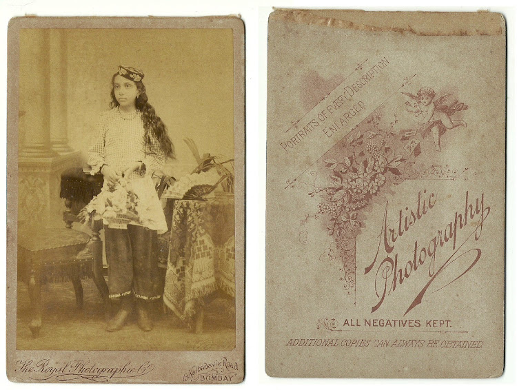 Parsi Girl Studio Photograph - Date Unknown