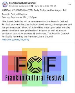 Artisan vendors sought for Franklin Cultural Festival