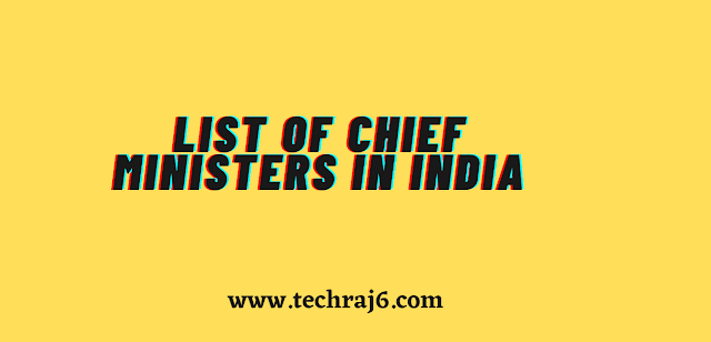 List of Chief Ministers in India
