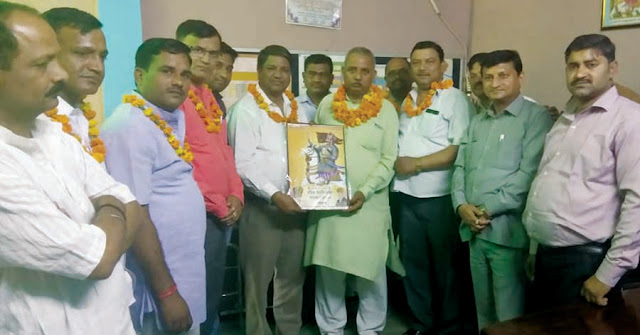 Indian farmer Union Lokjan Shakti welcomed the leader of INLD leader Umesh Bhati