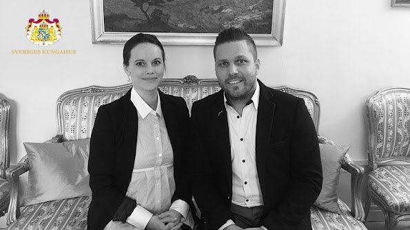 "Princess Sofia Hellqvist of Sweden met with Christian Nordenström who is the founder of ""Make a Change Association"" at the Royal Palace in Stockholm"