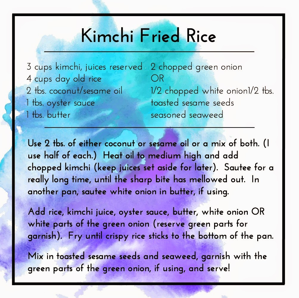 My personal recipe for kimchi fried rice | Lindsay Eryn