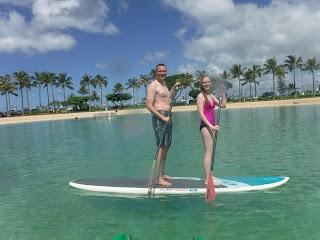 Stand up paddle board in waikiki hawaii