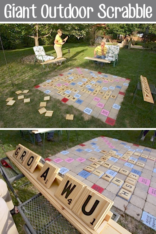Giant Scrabble Game From Listotic