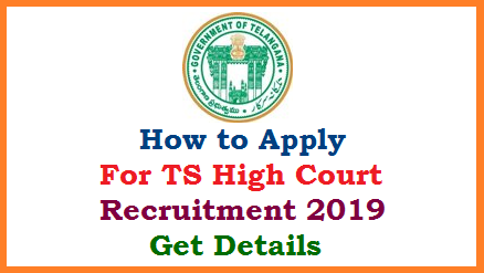 Process to Submit Online Application Form for the Recruitment of various Ministerial Staff Vizz.. Junior Assistants Process Servers Field Assistants Stenographers Copyists Office Subordinates at Official website www.hc.ts.nic.in. Telangana High Court recruitment 2019 aspirants have to follow these steps to Apply Online for the Posts to which they are eligible with appropriate Educational Qualifications. Candidates have to be ready with the required information, Documents Scanned Copies to Upload as in the Process of Applying Online. Here is the Complete Process to Apply Online for Telangana High Court Ministerial Staff Recruitment Notification 2019 how-to-apply-for-ts-elangana-high-court-recruitment-Online-application-form-hc.ts.nic.in