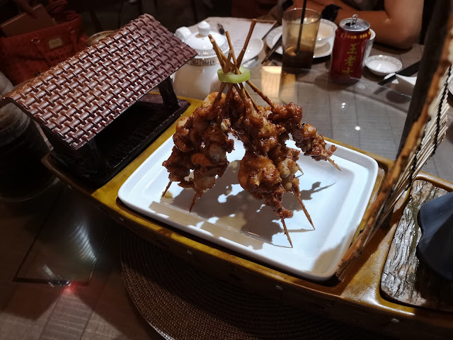 Spicy Grilled Frog Skewer