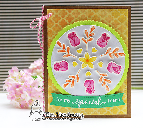 Floral Friendship Card by Ellen Haxelmans features Lovely Blooms by Newton's Nook Designs, #newtonsnook