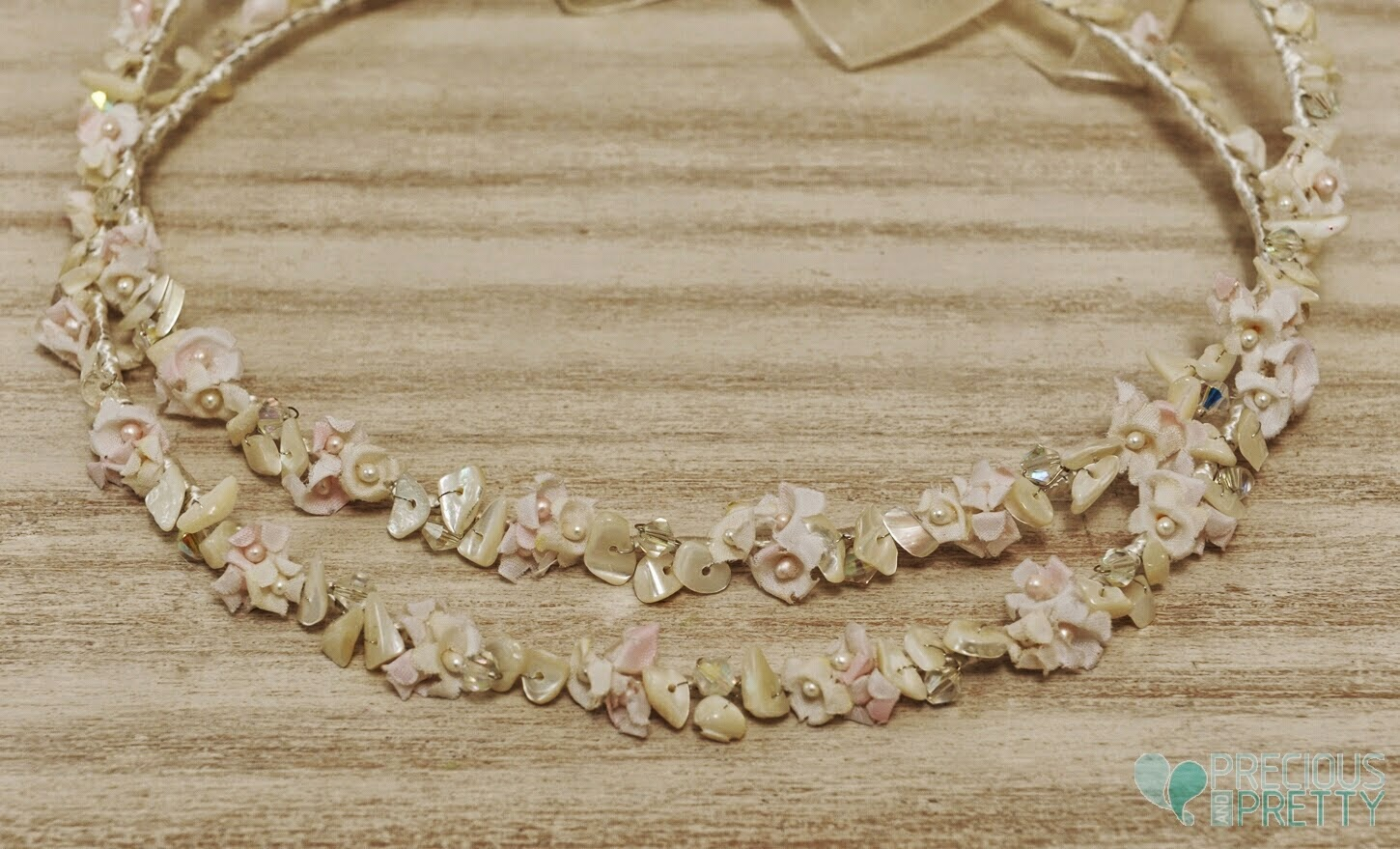 Stefana crowns for weddings flowers and ivory