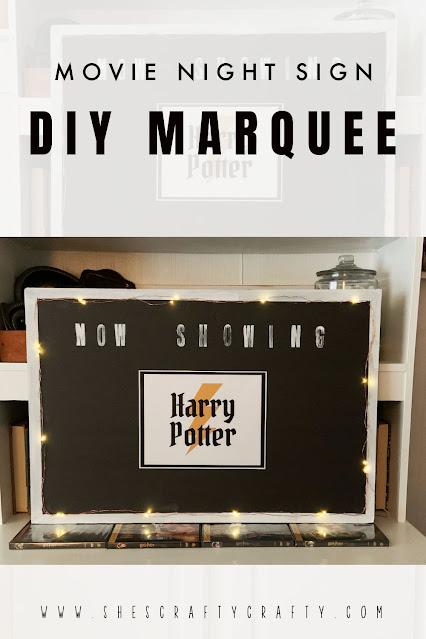 Movie Night Sign - DIY Marquee.