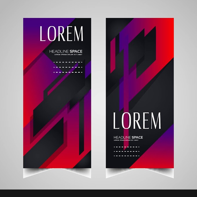 Leaflet templates modern elegant dark decor abstract design Free vector