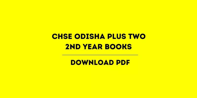CHSE Odisha Plus Two 2nd Year English Books PDF, +2 Books 2021