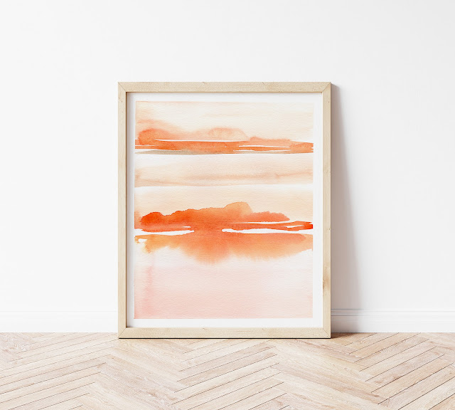 Original Abstract Landscape Watercolor Art by Elise Engh