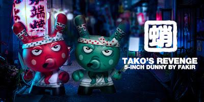 """Tako's Revenge 5"""" Dunny Vinyl Figure by Fakir x Kidrobot"""