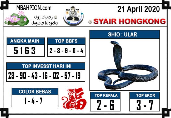 Prediksi Togel Hongkong 21 April 2020 - Syair Mbah Pion
