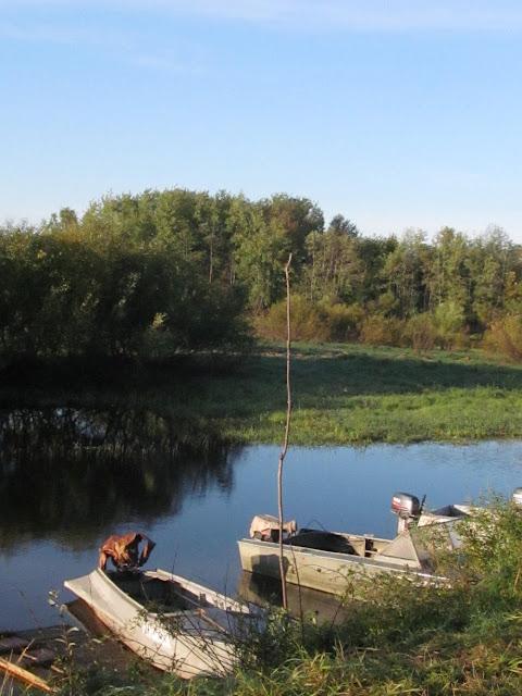 моторные лодки у берега