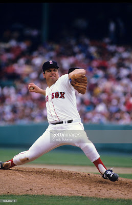 Tom Seaver playing for the Boston Red Sox 1986