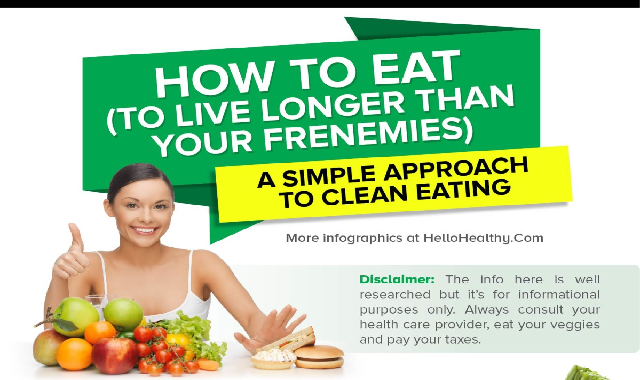 How To Eat Clean #infographic