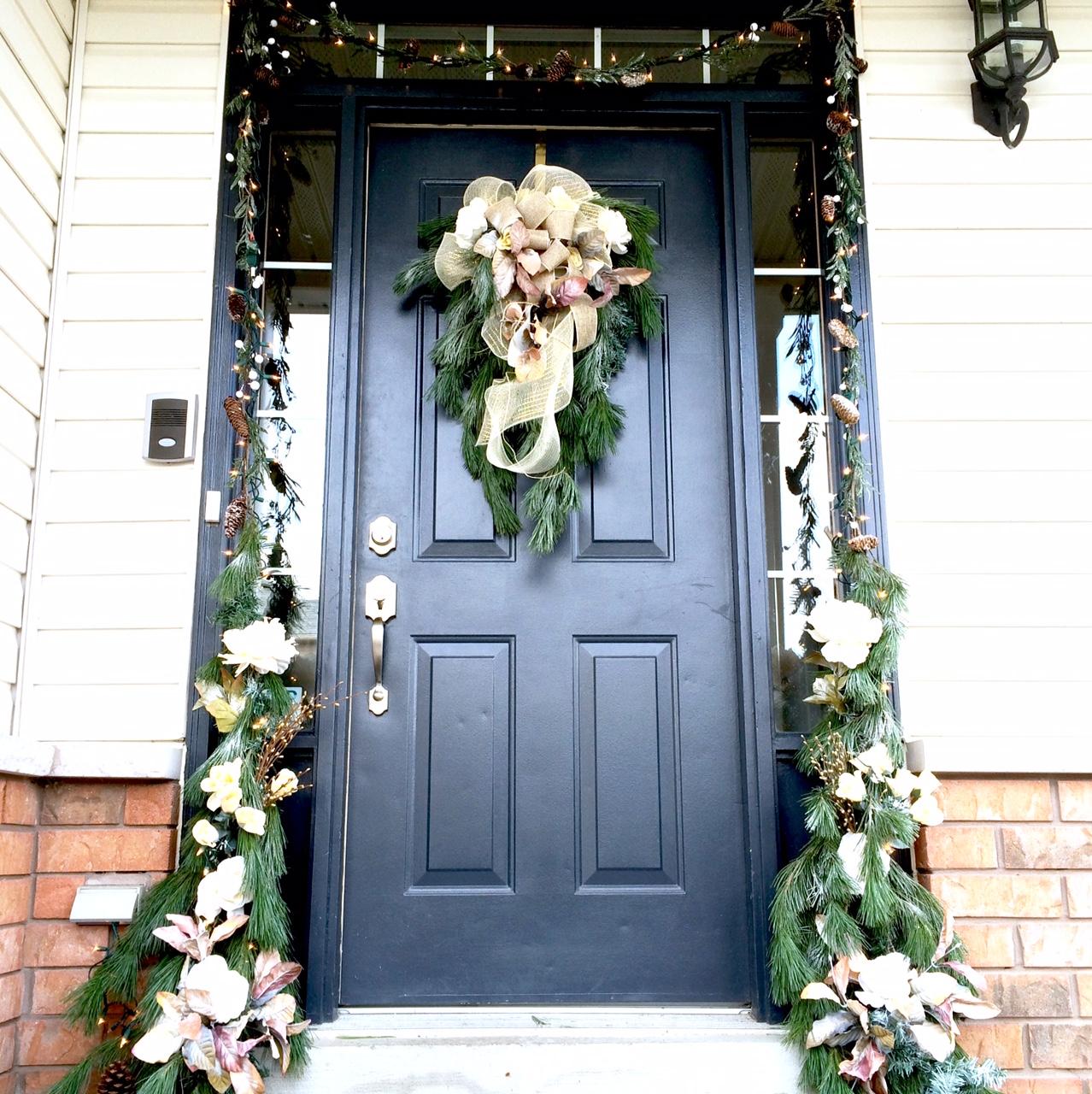 Diy Front Door Christmas Decor Harlow Thistle Home Design