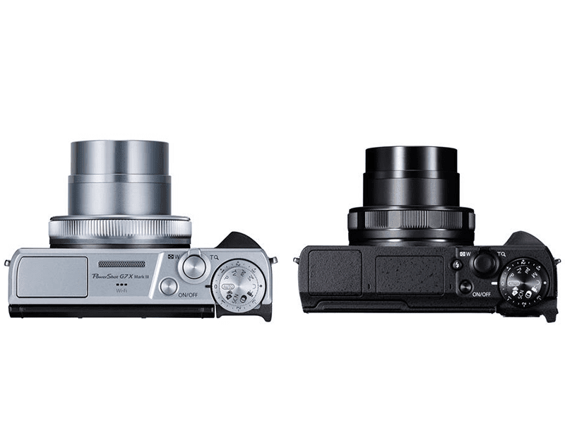 The top of the G7X Mk. III and the G5X Mk. II